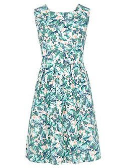 Hatty Palm Floral Dress
