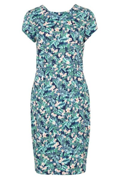Sugarhill Boutique Serita Palm Floral Knee Length Dress
