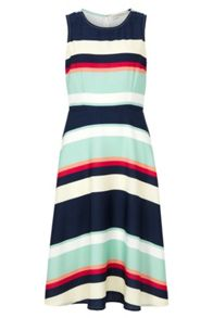 Sugarhill Boutique Liza Summer Stripe A-Line Midi Dress