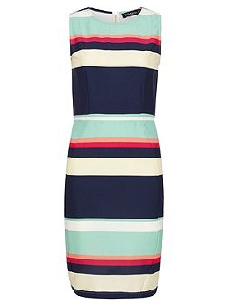 Eliza Summer Stripe Shift Dress