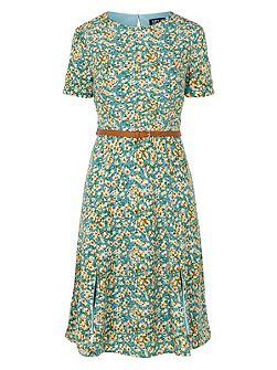 Duska Floral Fit And Flare Dress