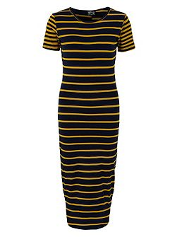 Rachel Jersey Stripe Midi Dress