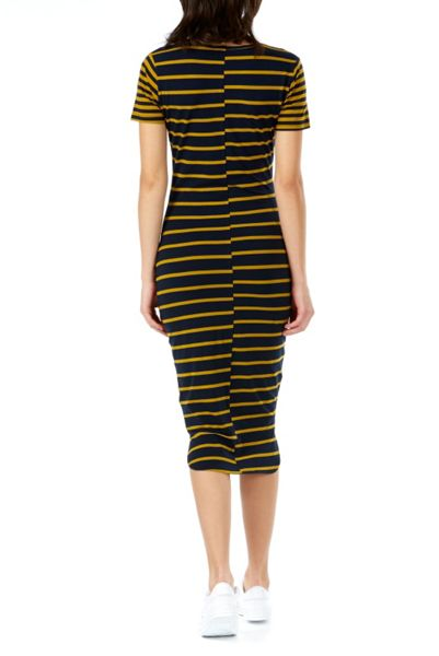Poppy Lux Rachel Jersey Stripe Midi Dress