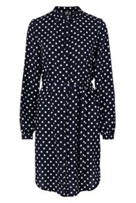 Poppy Lux Sasha Polka Oversized Shirt Dress