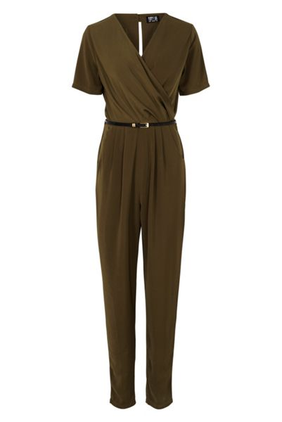 Poppy Lux Brandy V Neck Jumpsuit