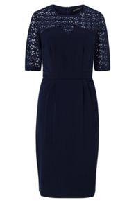 Sugarhill Boutique Audra Lace Detail Knee Length Dress