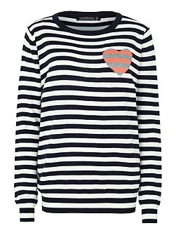 Lena Stripe Love Sweater