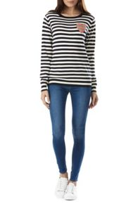 Sugarhill Boutique Lena Stripe Love Sweater