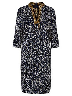 Evaline Ditsy Print Tunic Dress