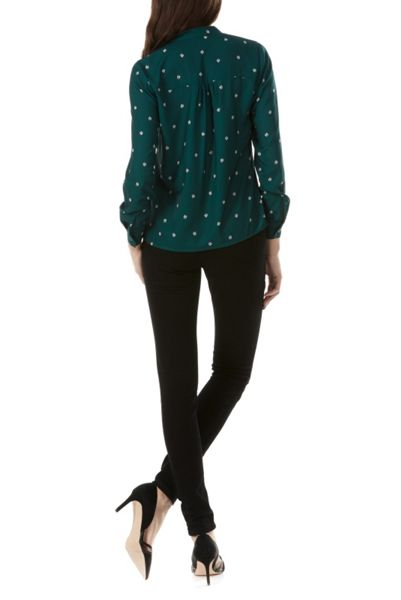 Sugarhill Boutique Bruna Ladybird Pussy Bow Blouse