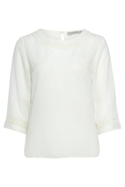 Sugarhill Boutique Malena Lace Insert Embro Top