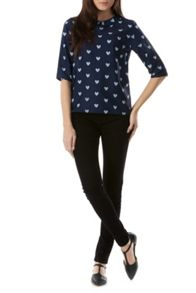 Sugarhill Boutique Nala Heart Print Top