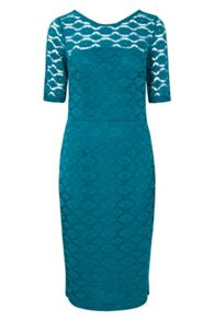 Sugarhill Boutique Grace Teal Lace Dress