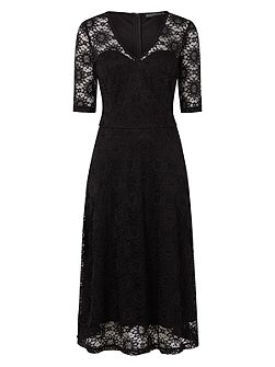 Imelda Flared Lace Dress