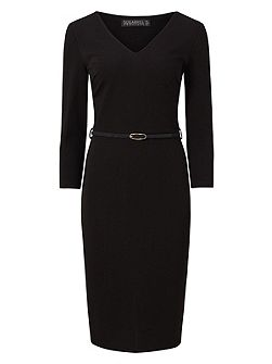 Lena Fitted Ponte Shift Dress
