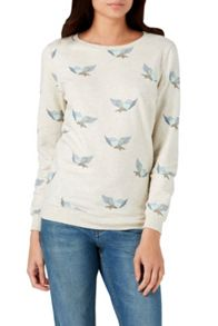 Sugarhill Boutique Bluebird Print Sweatshirt