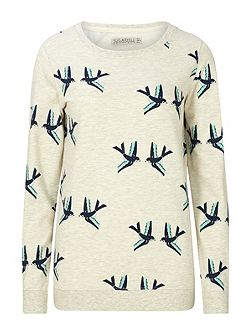 GRAPHIC BIRDS SWEATER