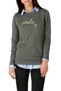 Sugarhill Boutique NITA SMILE EMBROIDERED SWEATER