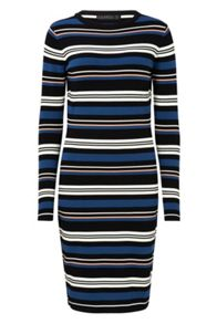 Sugarhill Boutique ZOE STRIPE KNITTED DRESS