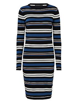 ZOE STRIPE KNITTED DRESS
