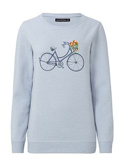 FLORAL BICYCLE SWEATER