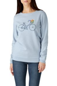 Sugarhill Boutique FLORAL BICYCLE SWEATER