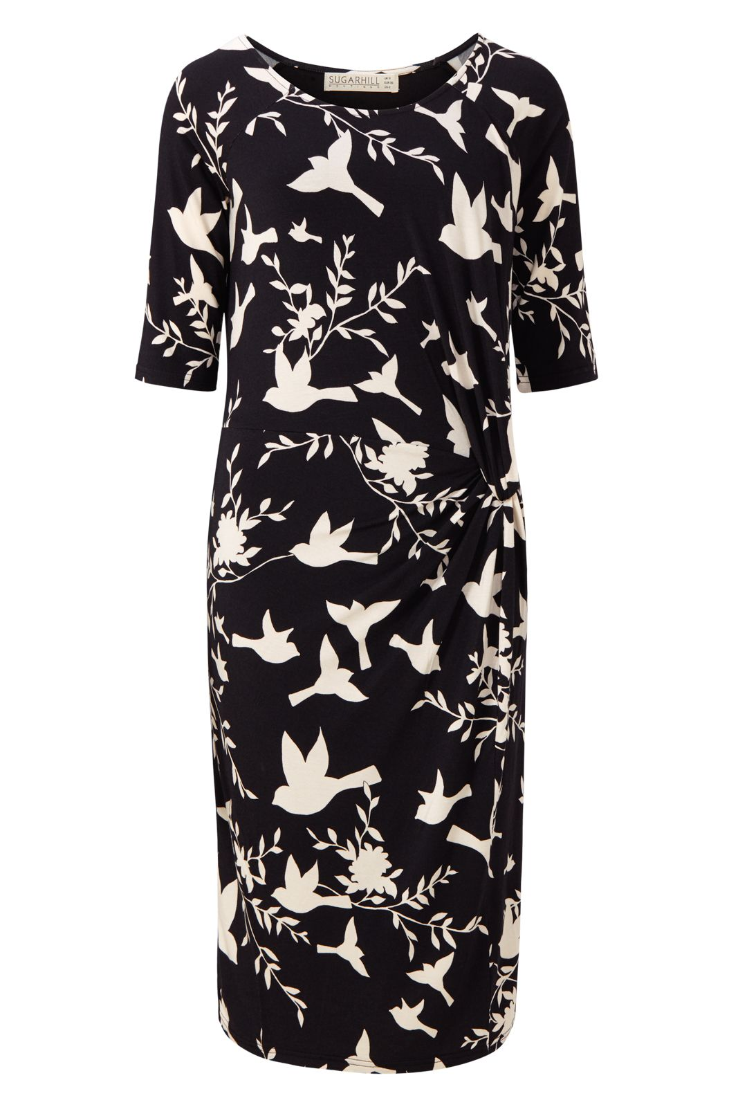 Sugarhill Boutique JENNA BIRD TWIST JERSEY DRESS, Blue