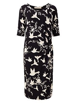 JENNA BIRD TWIST JERSEY DRESS