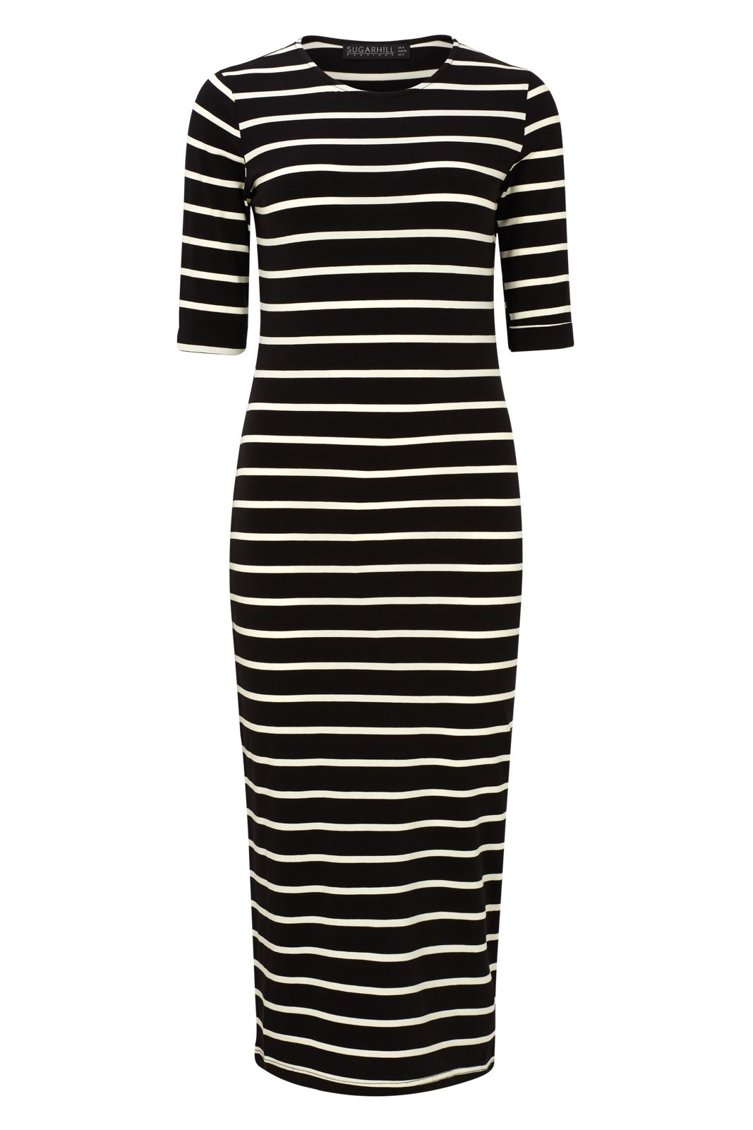 Sugarhill Boutique OCTAVIA STRIPE BODYCON, Black