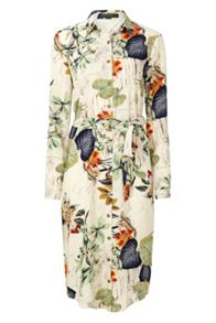 Sugarhill Boutique Reva Palm Print Shirt Dress