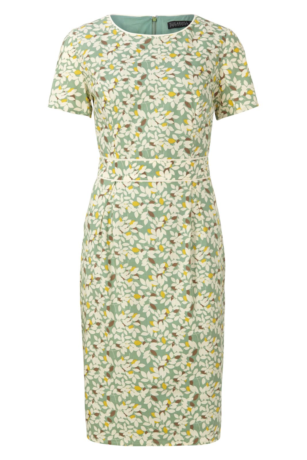 Sugarhill Boutique Ivana Shift Dress With Piping, Green