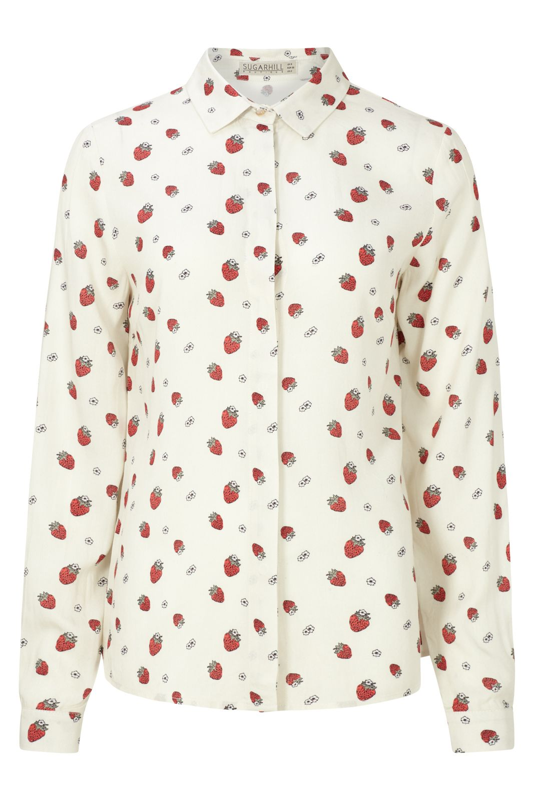 Sugarhill Boutique Blair Strawberry Shirt, Cream