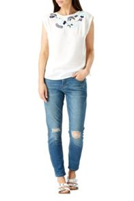 Sugarhill Boutique Jacqui Embroidered Tee Top