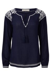 Sugarhill Boutique Windmill Embroidered Boho Top