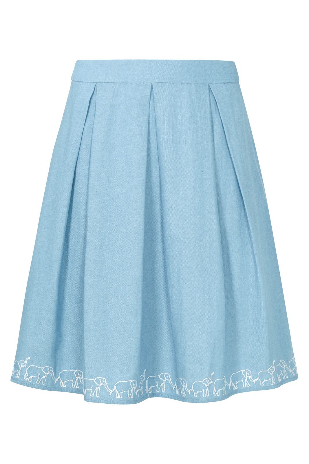 Sugarhill Boutique Fiona Ellie Embro Skirt, Blue