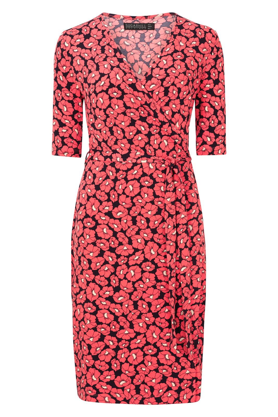 Sugarhill Boutique Marian Floral Jersey Wrap Dress, Red