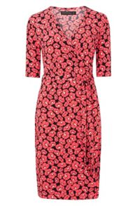 Sugarhill Boutique Marian Floral Jersey Wrap Dress