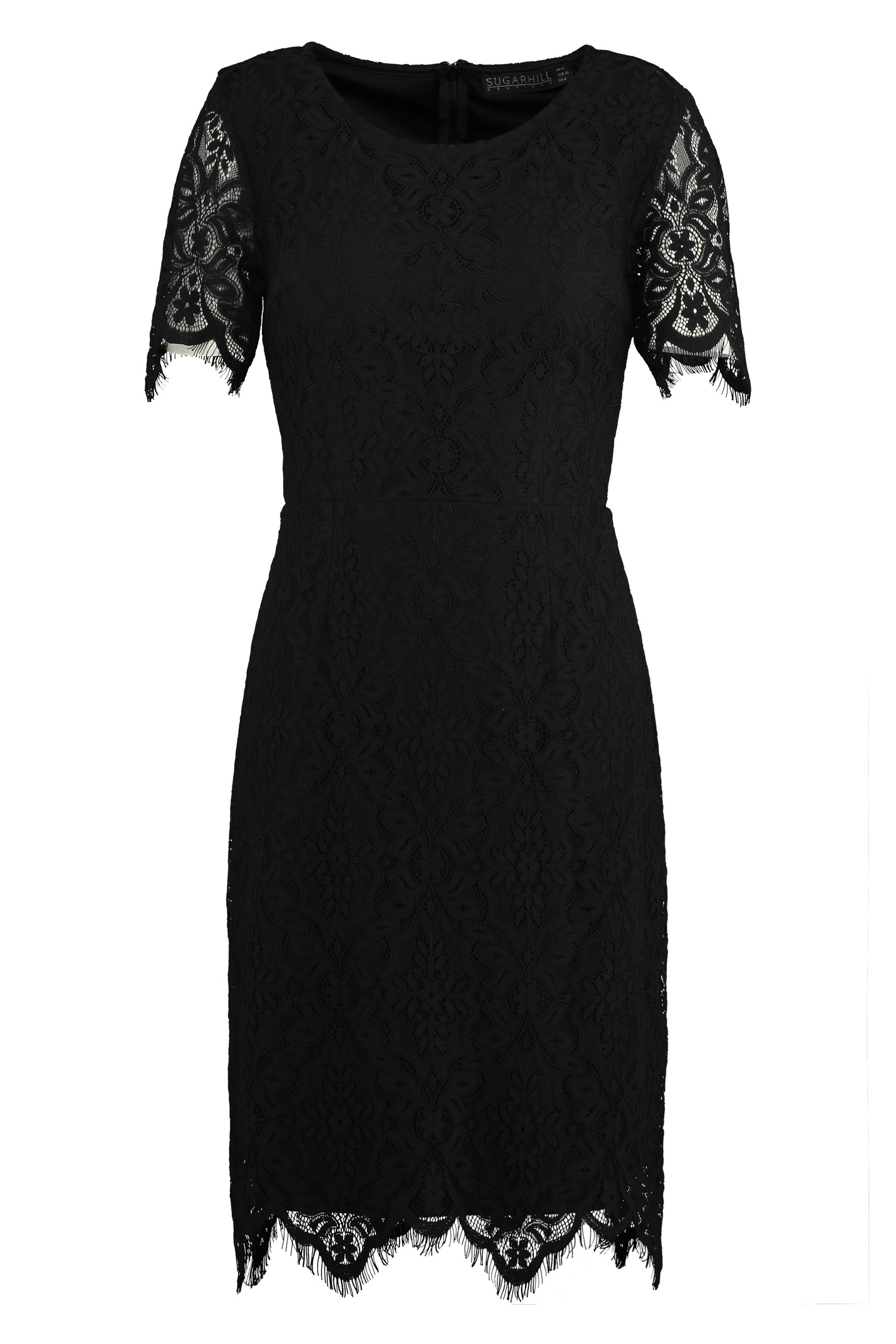 Sugarhill Boutique Dawn ALine Lace Dress Jet Black