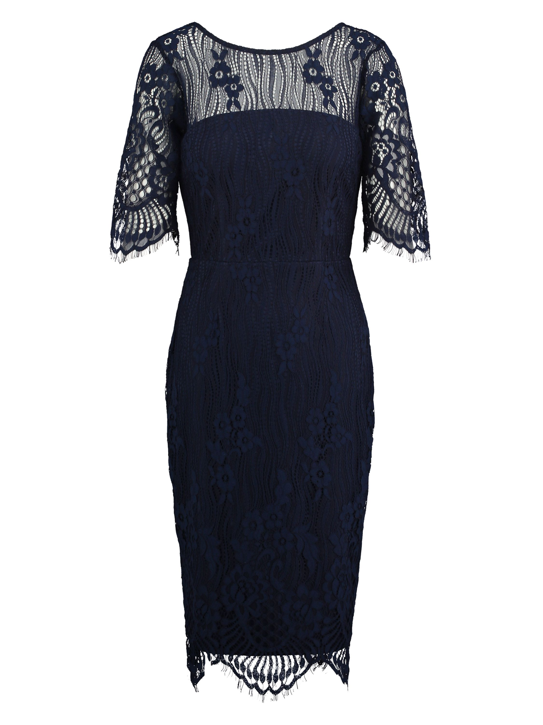 Sugarhill Boutique Grace Lace Dress, Dark Blue