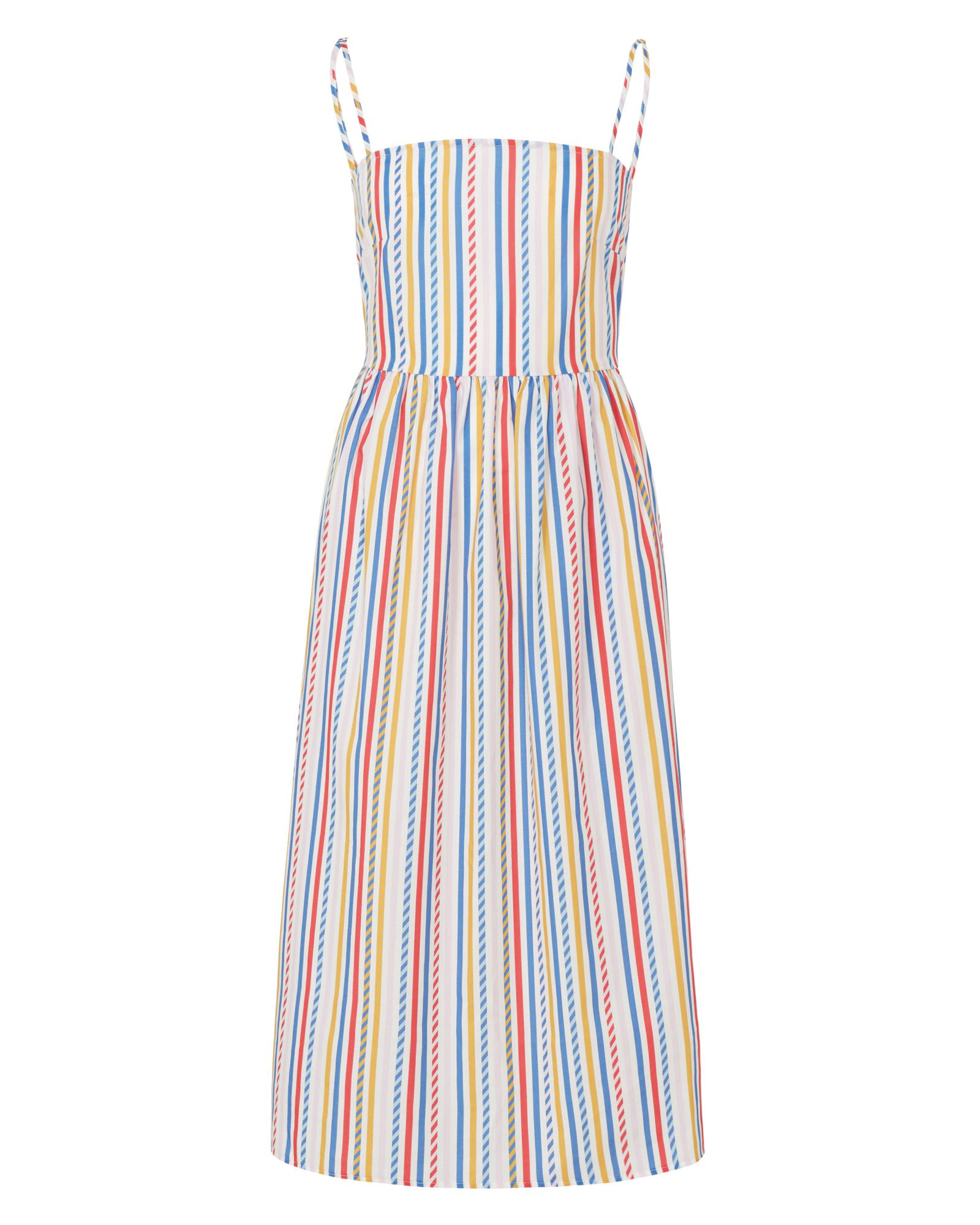 Sugarhill Boutique Candy Stripe Sundress, Multi-Coloured