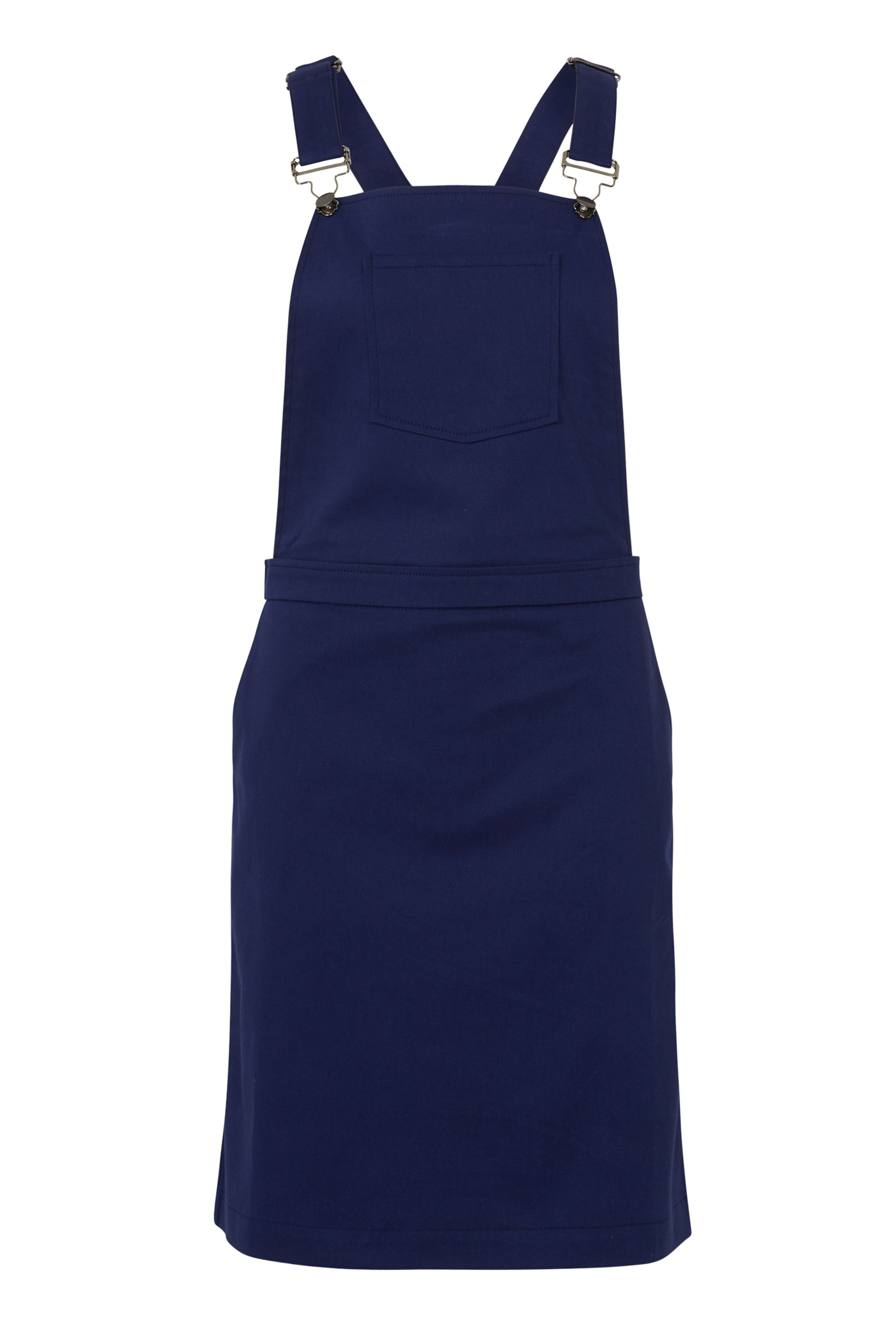 Sugarhill Boutique Toni Apron Dungaree Dress, Blue