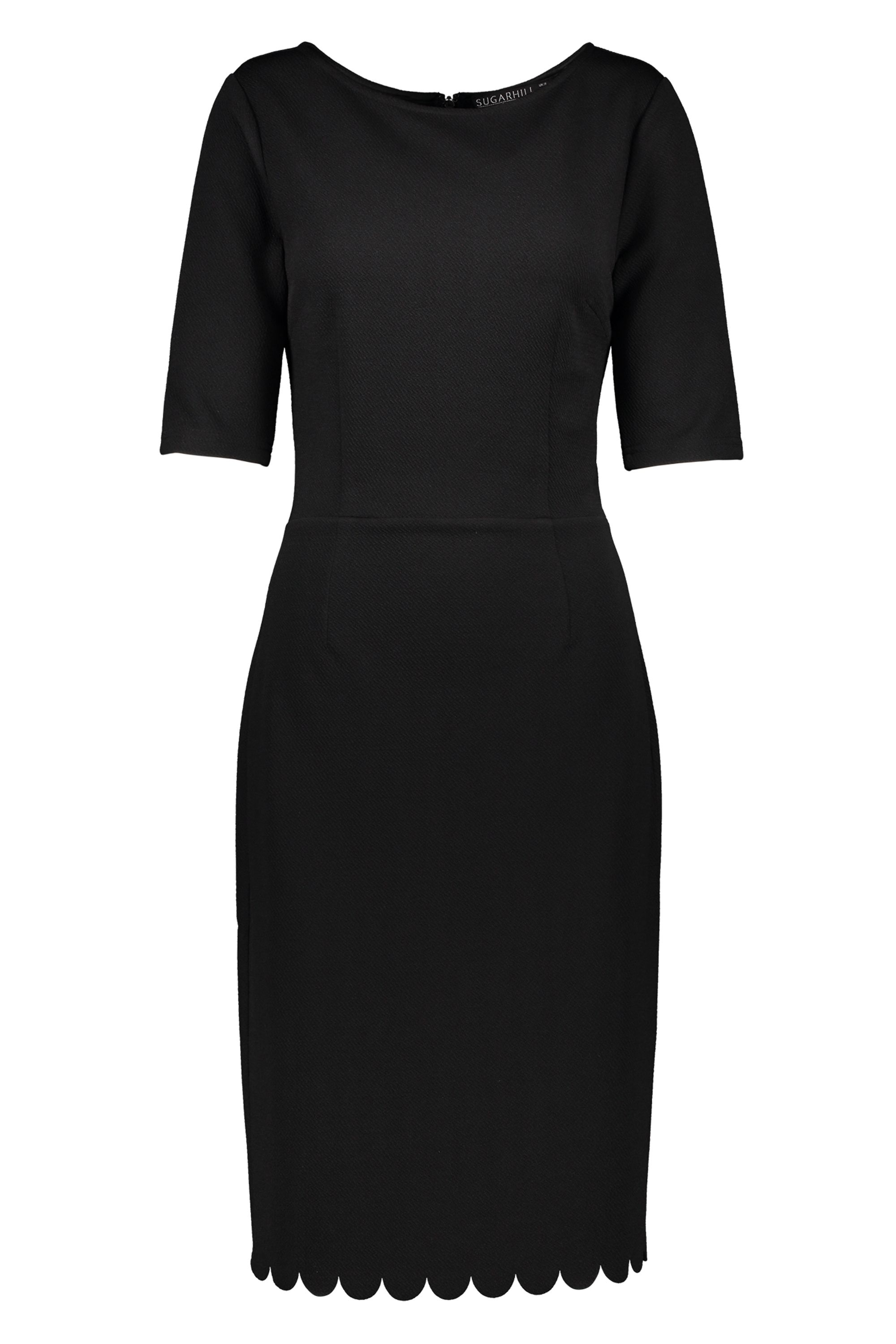 Sugarhill Boutique Albury Black Ponte Dress, Black