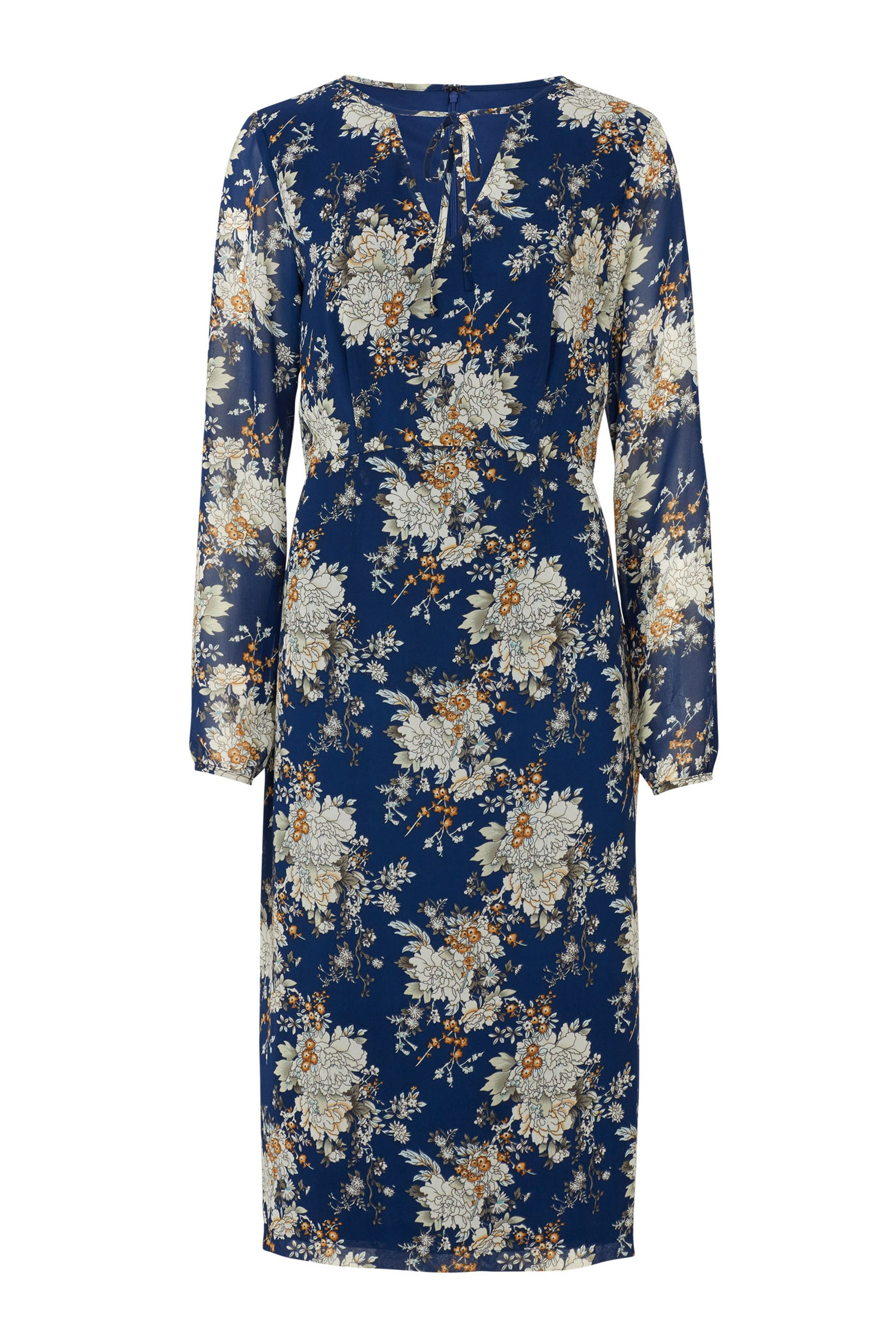 Sugarhill Boutique Noor Floral Midi Dress, Multi-Coloured