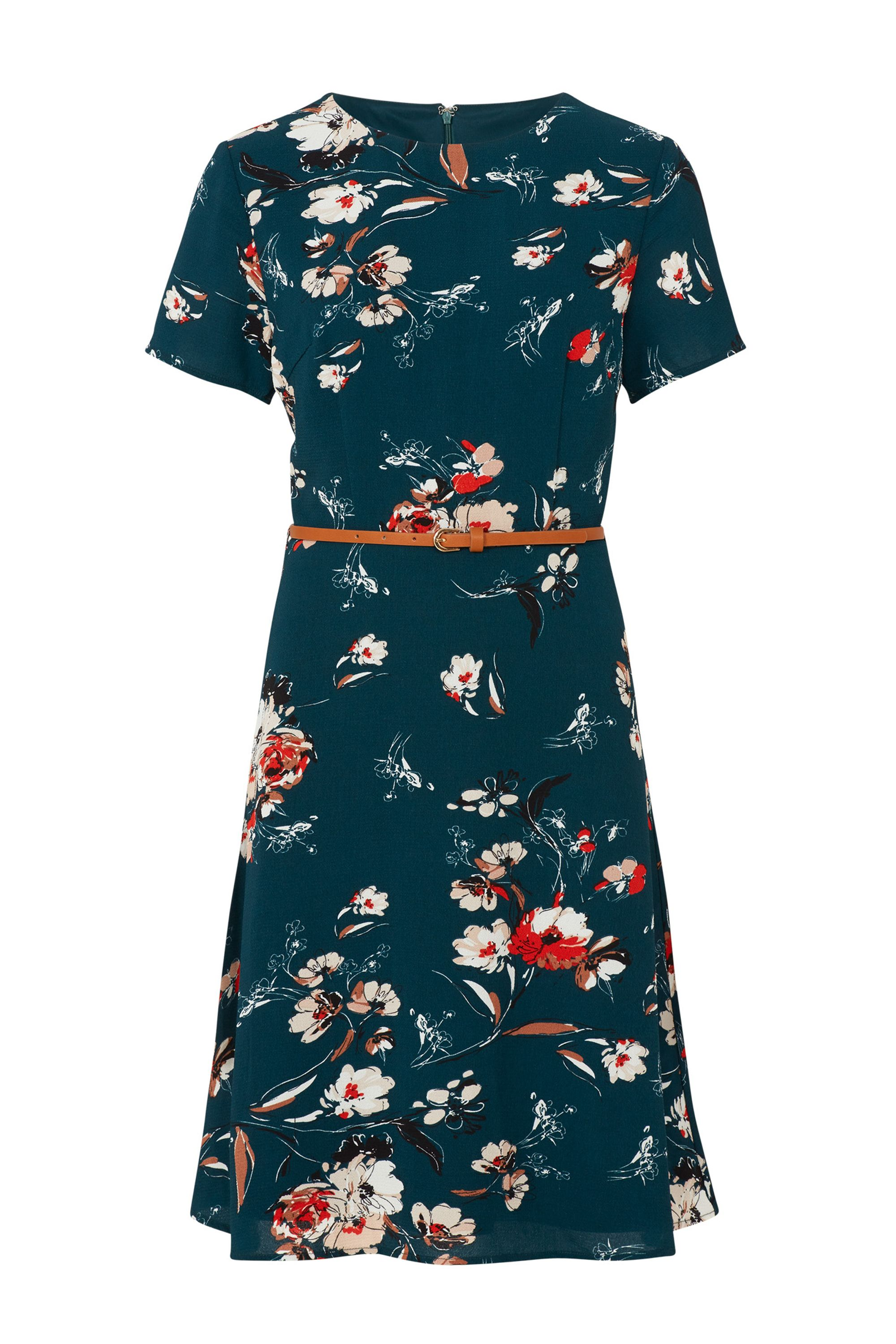 Sugarhill Boutique Ohara Sketchy Floral Dress, Multi-Coloured
