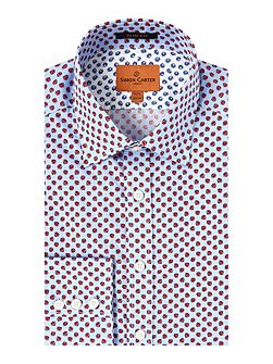 Ls Sf Blue/Red Lemons Moore Shirt