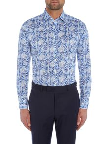 Simon Carter Overlapped Leaves Shirt