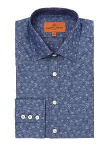 Simon Carter Jacquard Flower Shirt