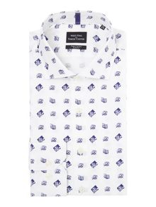 Simon Carter L/S Sf Camera Print Cutaway Shirt
