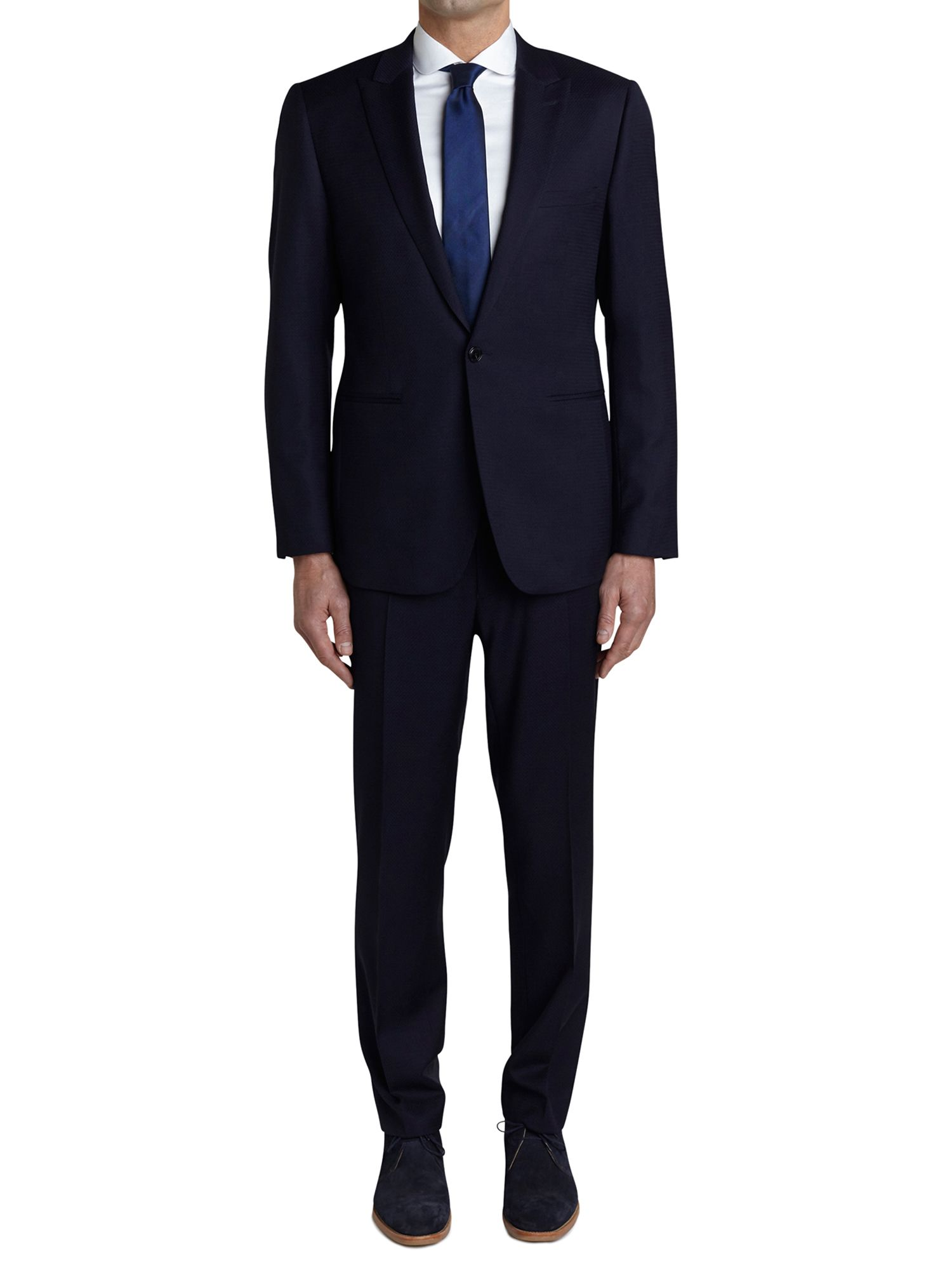 Men's Simon Carter Sb1 Ff Self Woven Squares Suit, Navy