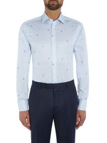 Simon Carter Feather jacquard shirt